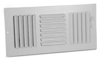 363 - Steel Curved Blade Registers 3-way, Metal Handle, MS damper