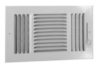 A383 - Aluminum 3-way Register, MS damper, 1/2\